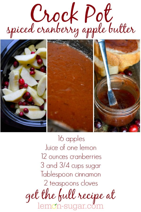 Spiced Cranberry Apple Butter | lemon-sugar.com