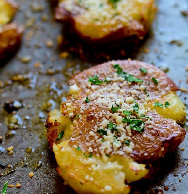 Smashed Roasted Potatoes - lemon-sugar.com -0993