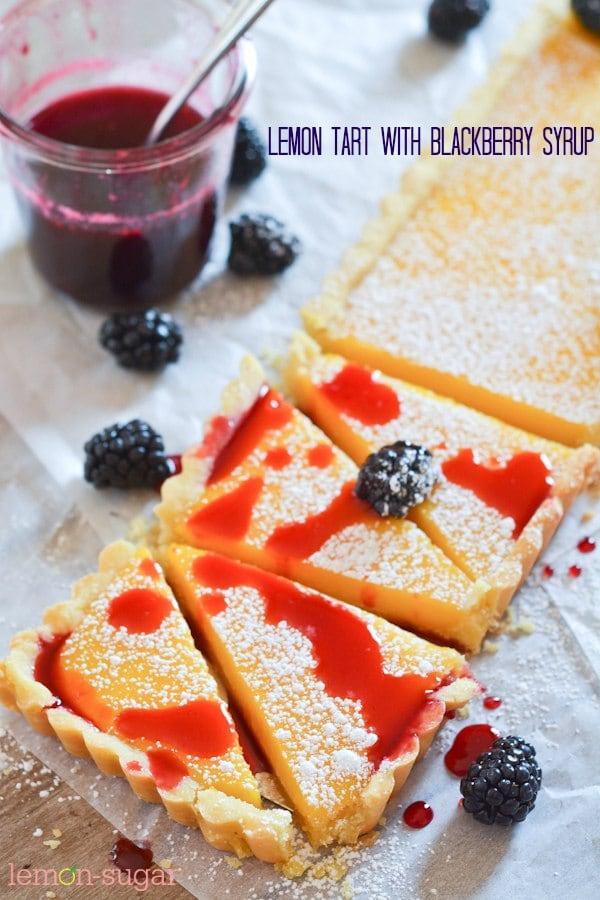 Lemon Blackberry Tart - Lemon Blackberry Tart-FB
