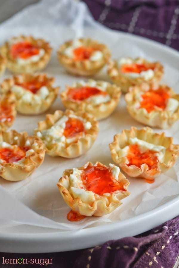 Cream Cheese and Pepper Jelly Fillo Cups | lemon-sugar.com