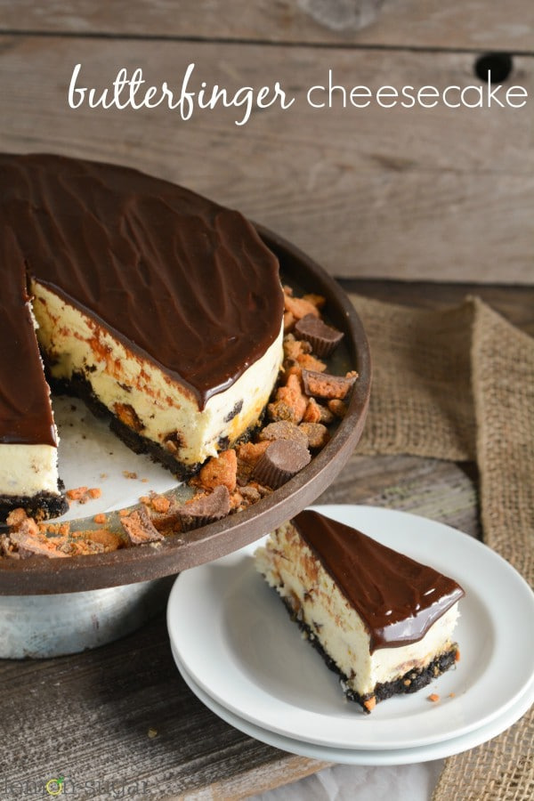 Butterfinger Cheesecake | lemon-sugar.com