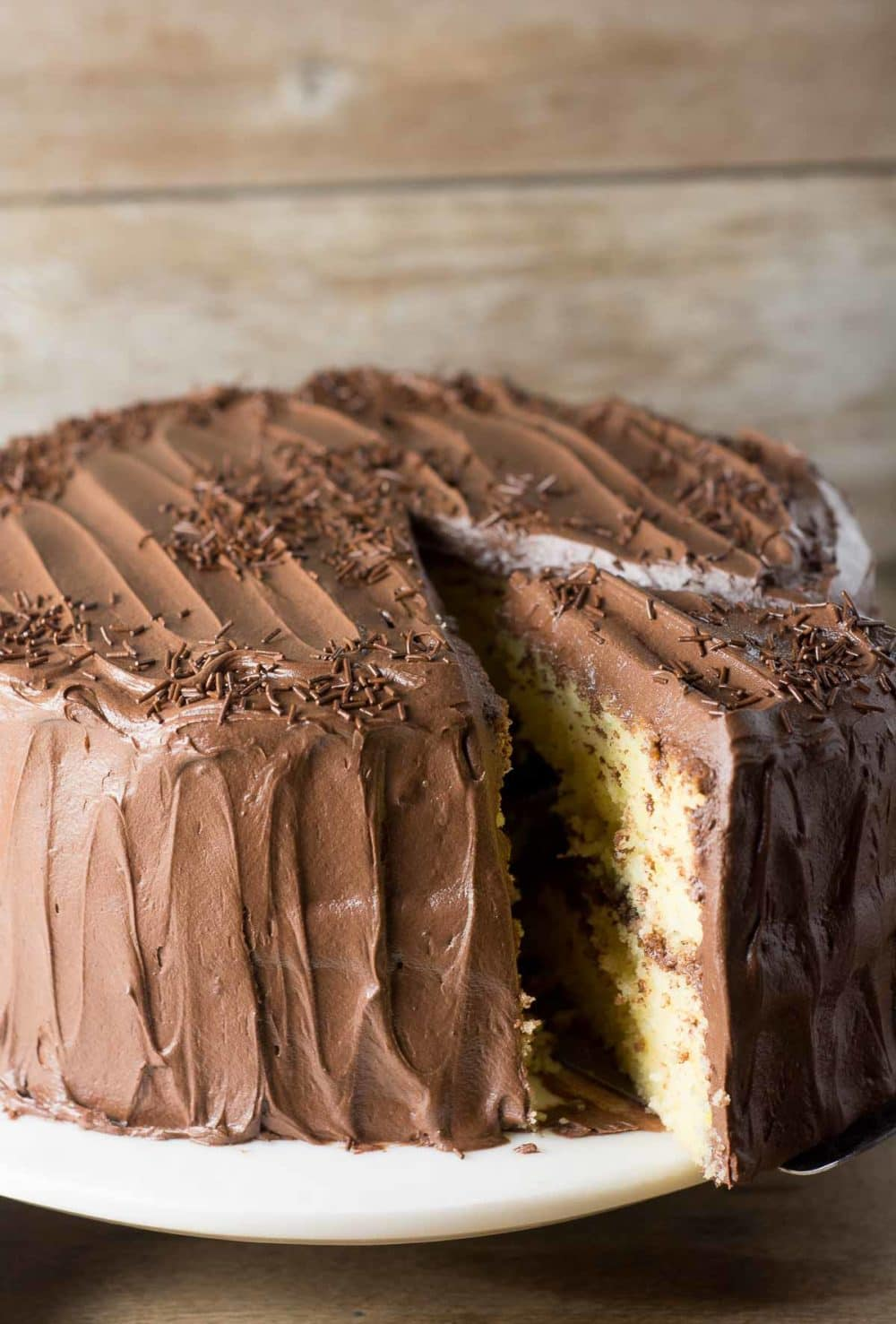 Yellow Cake with Fudge Frosting - lemon-sugar.com-5