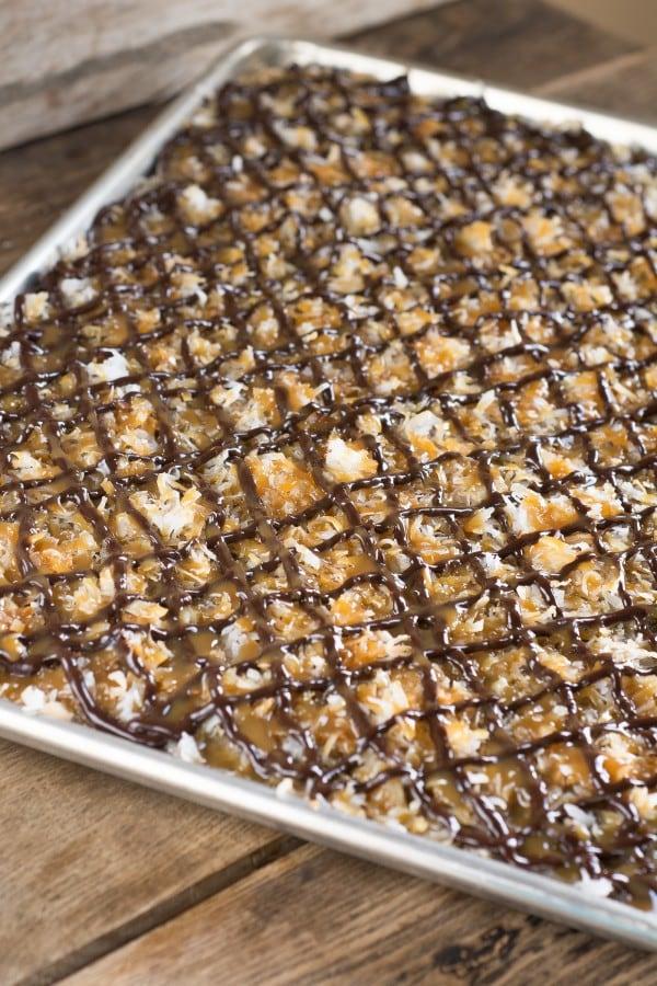 Samoa Sheet Cake | lemon-sugar.com