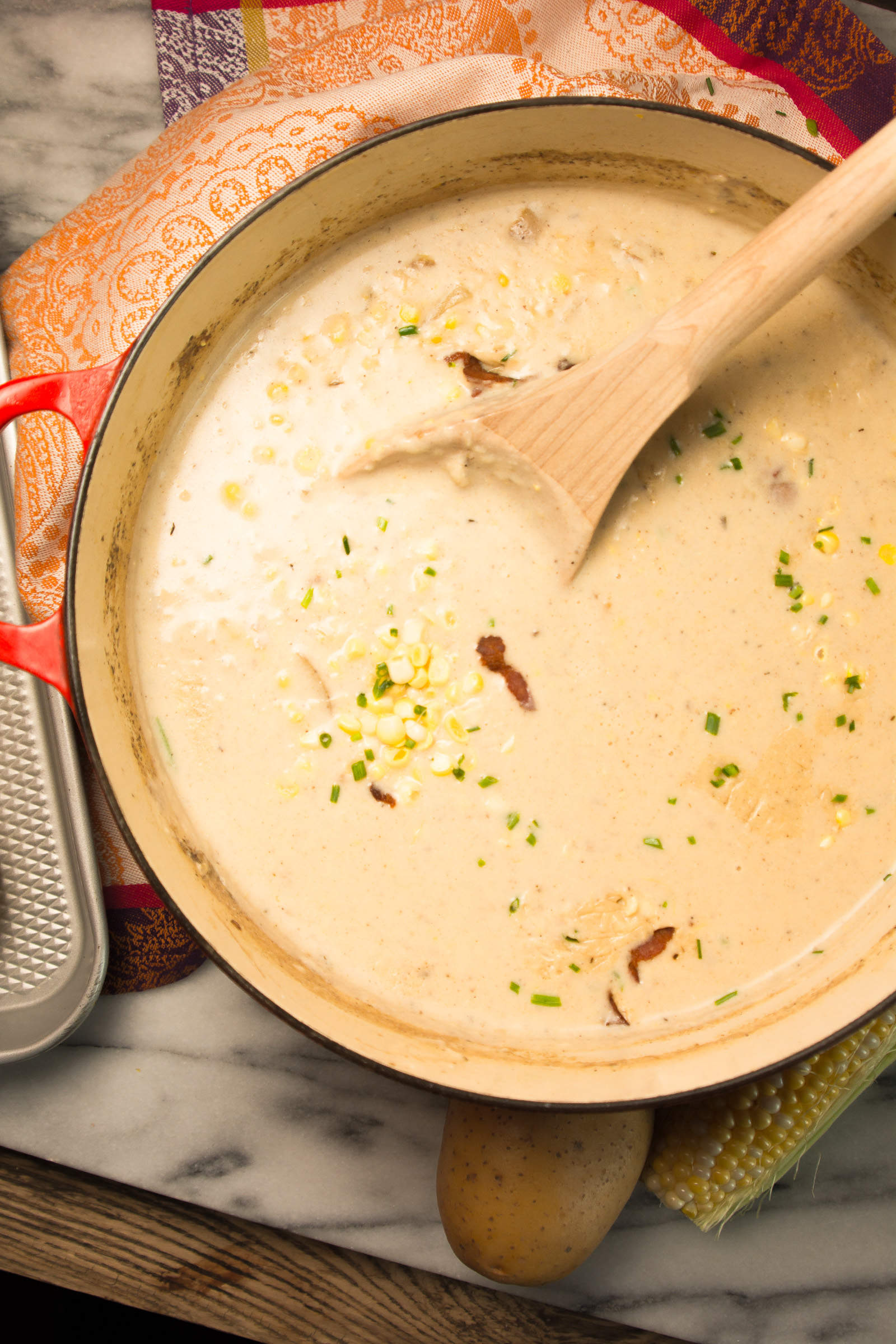 Summer Corn & Bacon Chowder - lemon-sugar.com