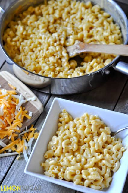 Creamy Stovetop Mac and Cheese | www.lemon-sugar.com